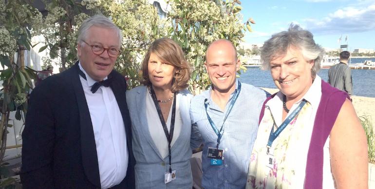 Gespräche mit EU-Repräsentanten in Cannes