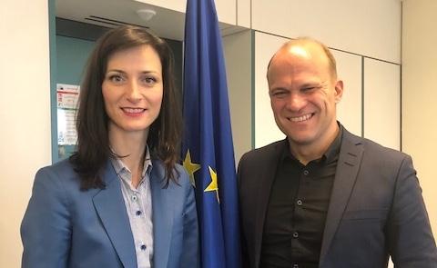AG Kino – Vorsitzender Christian Bräuer trifft EU Kommissarin Marija Gabriel